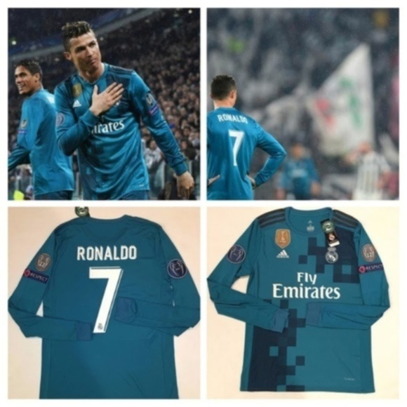 low priced 66c78 04ca1 Real Madrid Cristiano Ronaldo Long Sleeve Champion NWT